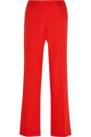 Tom slub stretch-crepe flared pants