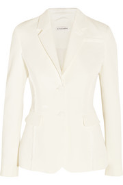 Fenice frayed stretch-crepe blazer