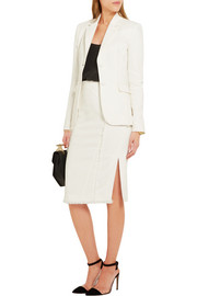 Miro frayed stretch-crepe pencil skirt