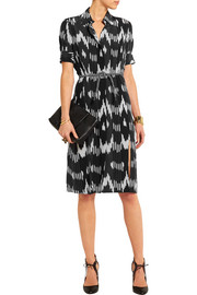 Kieran printed silk crepe de chine dress