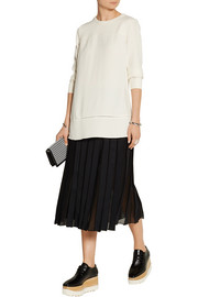 Proenza Schouler Pointelle-trimmed crepe top
