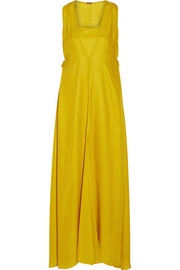 Adam Lippes Silk-crepe gown