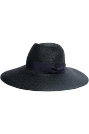 Grosgrain-trimmed straw hat