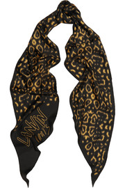 Lanvin Printed washed-silk scarf