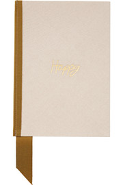 Grosgrain-trimmed canvas notebook