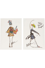 Lanvin Set of 10 printed postcards
