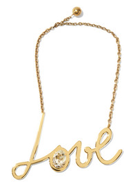 Love gold-tone Swarovski crystal necklace