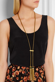 Lanvin Convertible gold-plated resin necklace