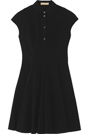 Stretch-cotton poplin mini dress