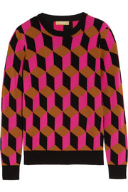 Hexagon intarsia cashmere sweater