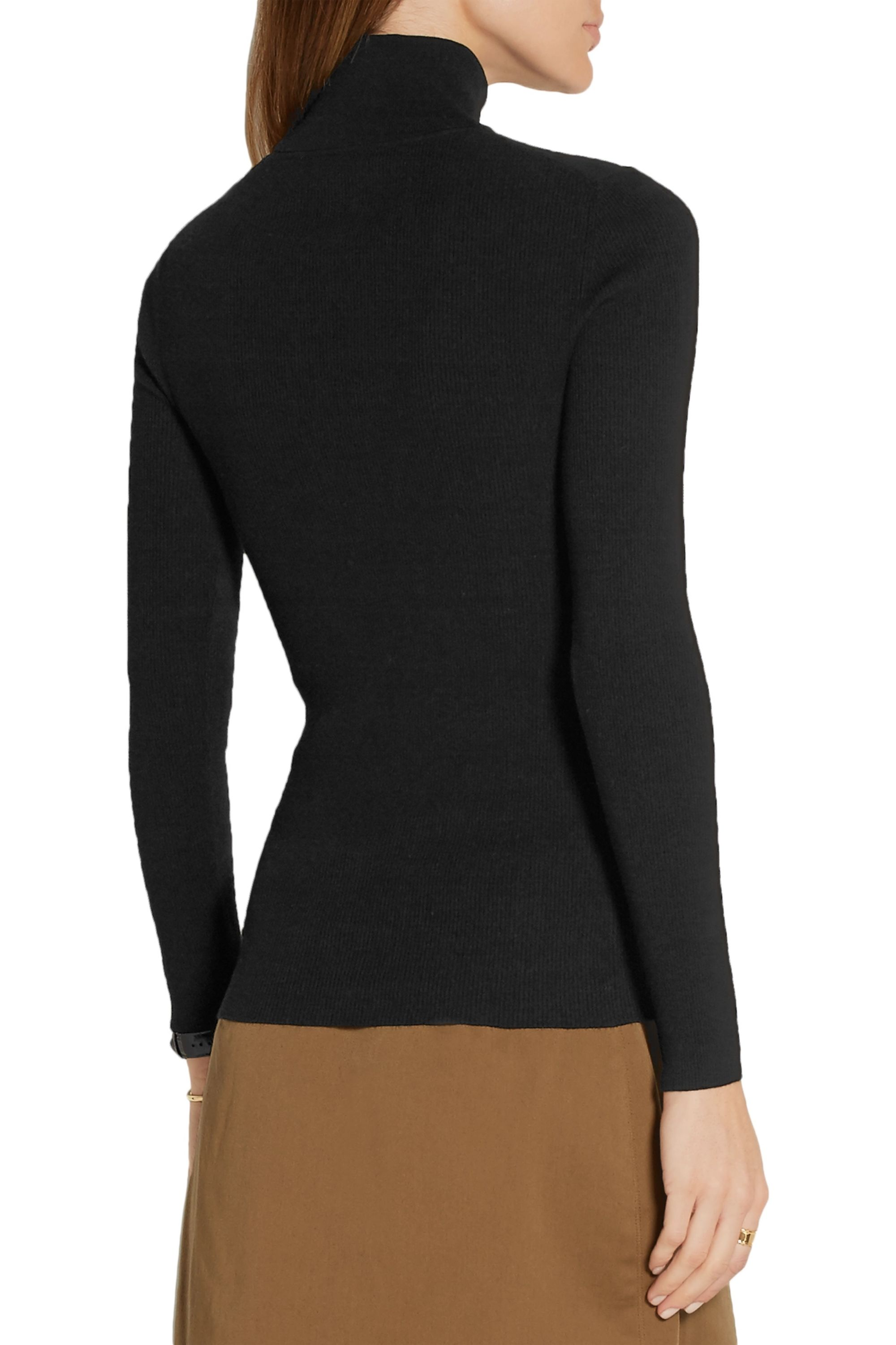 Michael Kors Collection Ribbed-knit turtleneck sweater