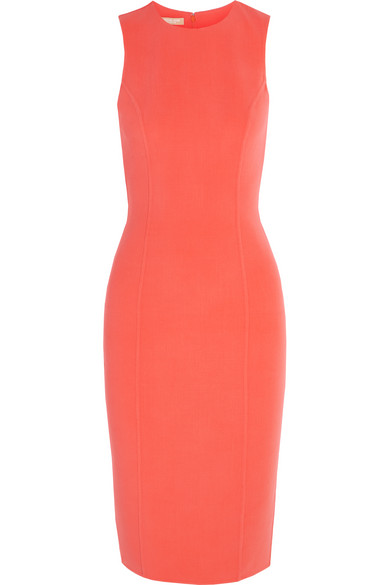 michael kors female 123936 michael kors collection stretchwool dress coral