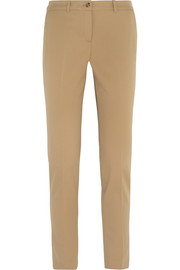 Samantha stretch-wool gabardine slim-leg pants