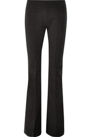 Stretch-cotton and modal-blend flared pants