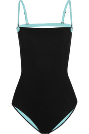Two-tone bonded swimsuit