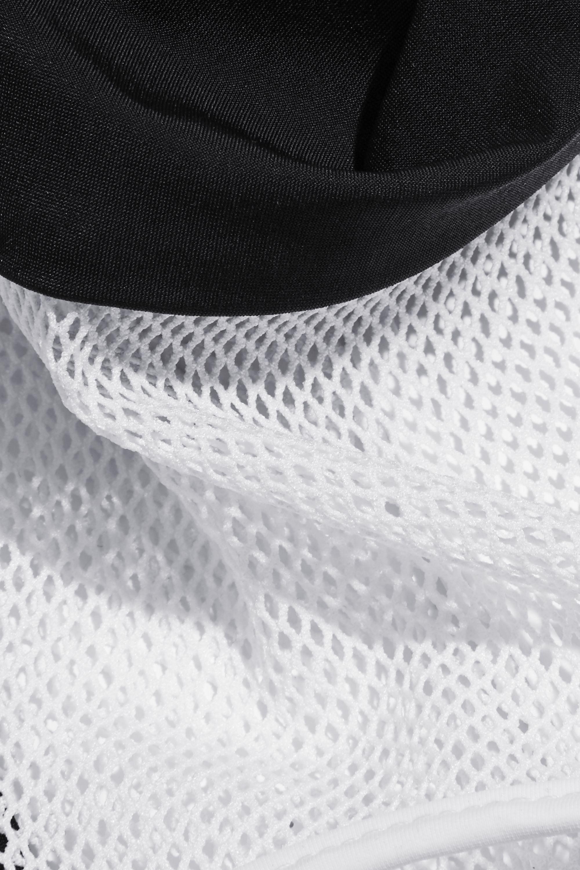 alexanderwang.t Racer-back mesh-paneled stretch bikini top