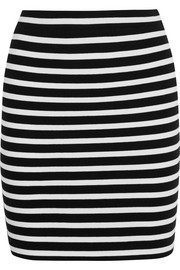 T by Alexander Wang Striped stretch-cotton ponte mini skirt