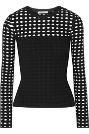 T by Alexander Wang Cutout stretch-jersey top