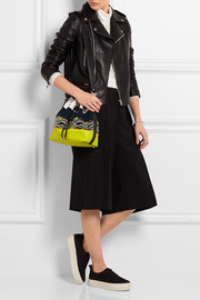 Proenza Schouler Bucket paneled suede, leather and watersnake shoulder bag