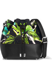 Proenza Schouler Bucket small leather and printed canvas shoulder bag