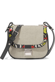 Kent tiny ayers and leather-trimmed canvas shoulder bag