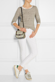 Proenza Schouler Kent tiny ayers and leather-trimmed canvas shoulder bag