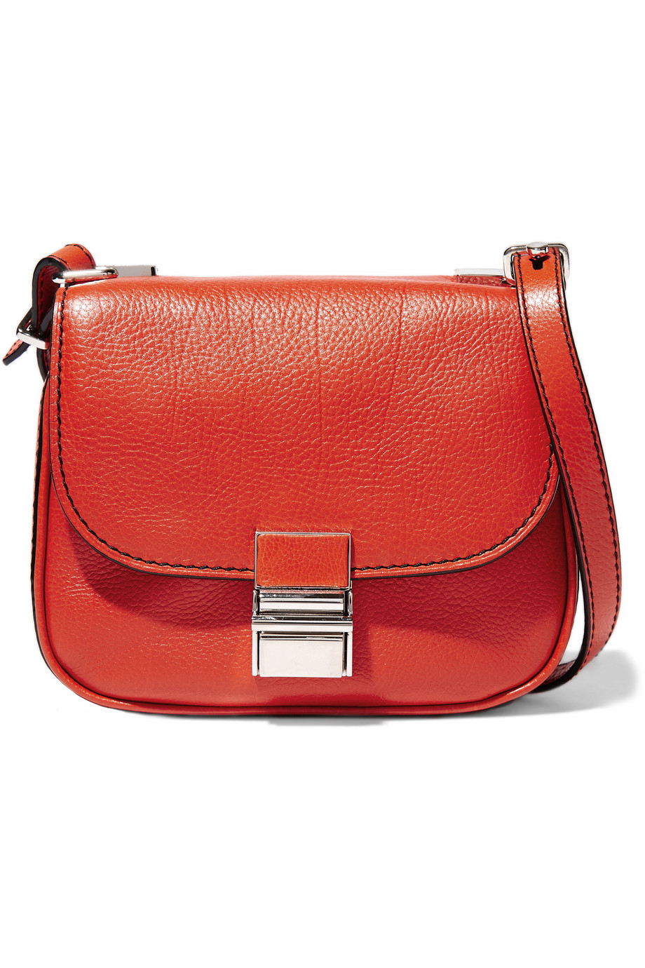 Proenza Schouler Kent Tiny Textured-Leather Shoulder Bag, Red, Women's