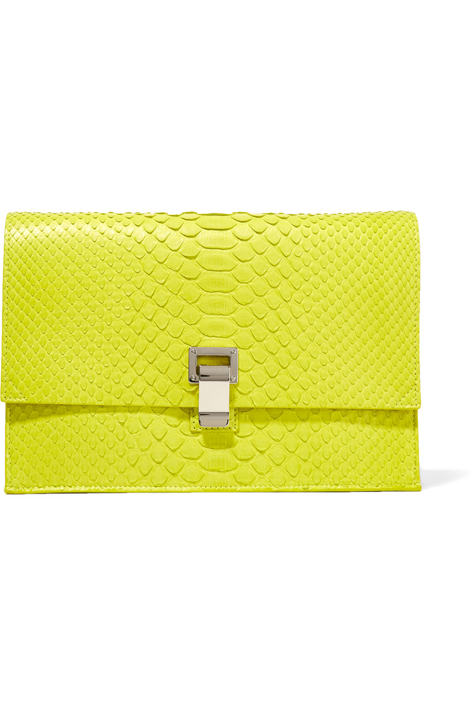 Proenza Schouler The Lunch Bag Small Python Clutch, Chartreuse, Women's, Size: One Size
