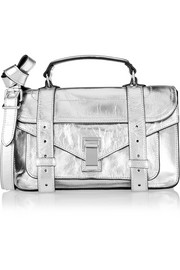 Proenza Schouler The PS1 tiny metallic leather satchel