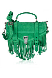 Proenza Schouler The PS1 tiny fringed suede shoulder bag