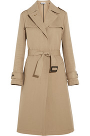 Cotton and silk-blend gabardine trench coat