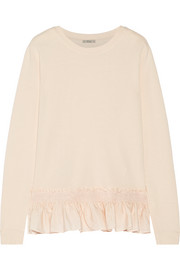 Ruffled terry sweatshirt