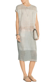 Raquel Allegra Chiffon-paneled tie-dyed silk-crepe dress