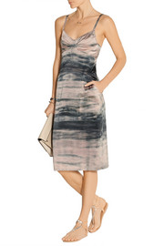 Raquel Allegra Tie-dyed stretch-silk dress