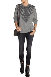 Raquel Allegra Intarsia merino wool and cashmere-blend sweater