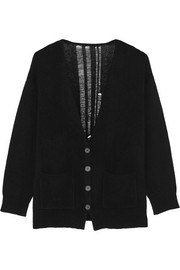 Shredded merino wool and cashmere-blend cardigan