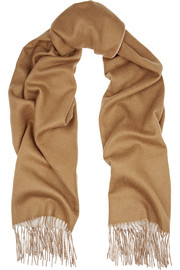 Two-tone double-faced merino wool scarf