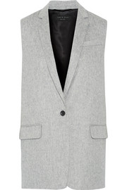 Frankie brushed wool-blend gilet