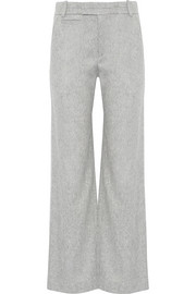 Aggie brushed wool-blend wide-leg pants