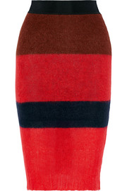 Petra striped knitted skirt