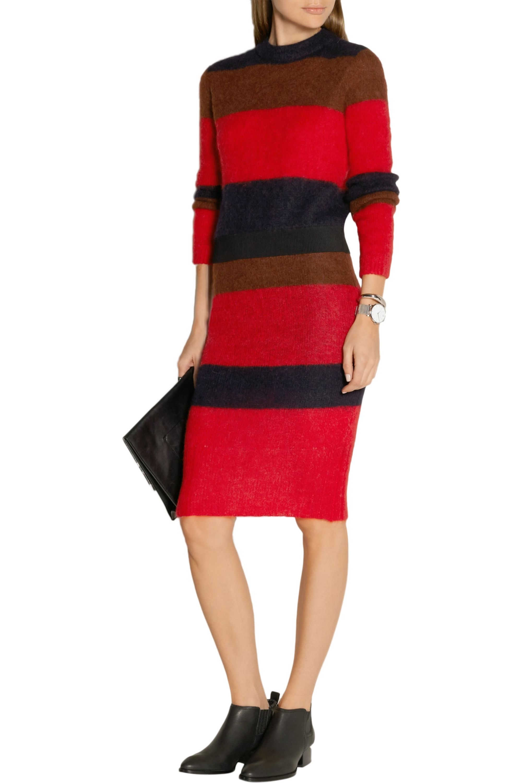 rag & bone Petra striped knitted skirt