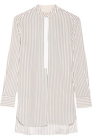 Virginia striped silk-satin shirt