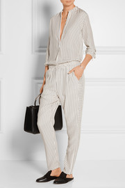 Rag & bone Striped silk-satin track pants