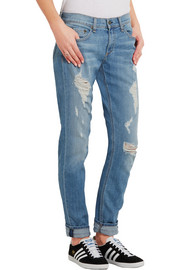 Rag & bone The Dre distressed mid-rise slim boyfriend jeans
