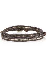 Chan Luu Beaded and leather wrap bracelet