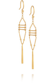 Gold-plated Swarovski crystal earrings