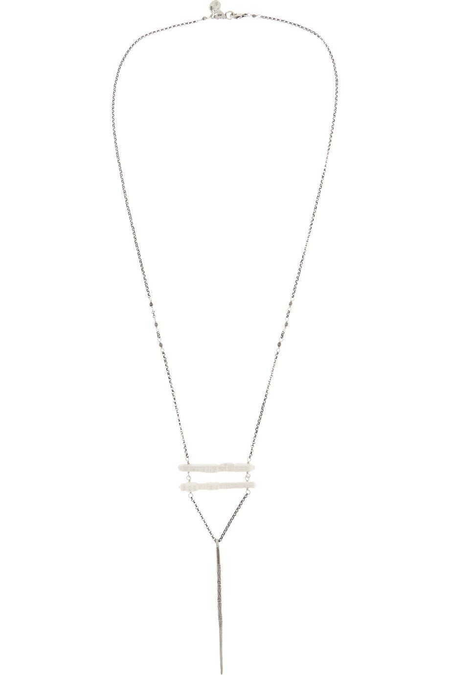 Chan Luu Silver Pearl Necklace, Women's