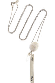 Silver, pearl and quartz necklace