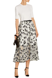 Lela Rose Fil coupé midi skirt
