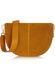Elizabeth and James Scott Moon small suede and leather shoulder bag